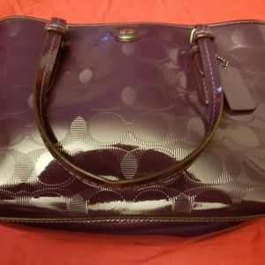 Coach Patent Leather Small Tote